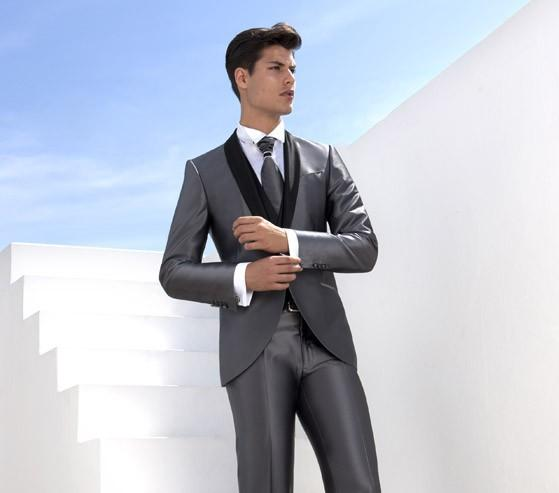 Silver And Black Prom Suit