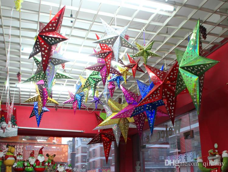2015 New Hot 30cm Christmas Star Decorations Outdoor Xmas Creative - christmas star decorations