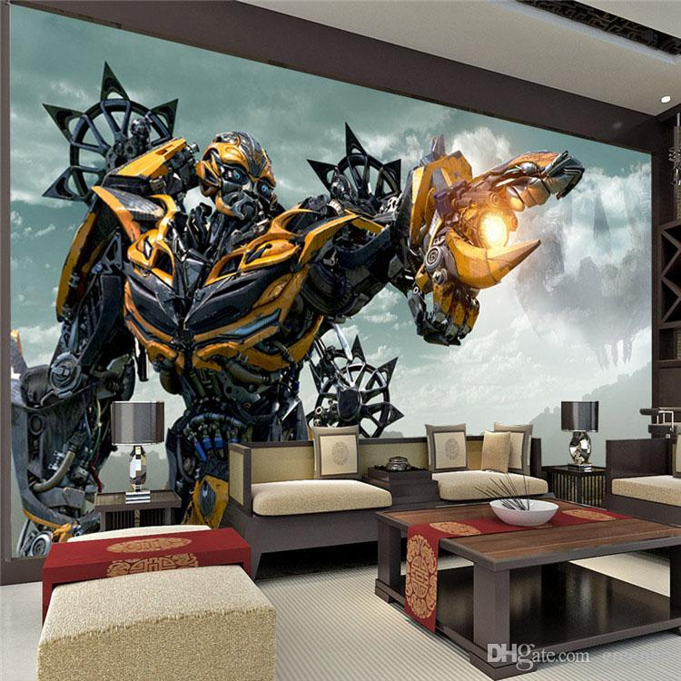 Marvel Super Heroes 3d Wallpaper Transformers Bumblebee Wall Mural Large Wall Art Photo