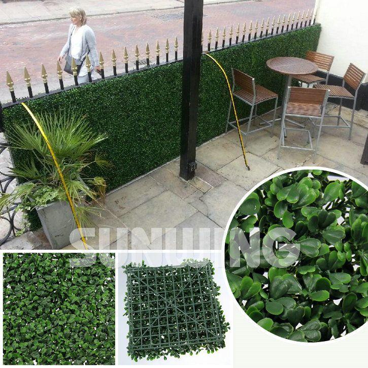 Artificial Garden Hedges Plants 50X50cm Fake Fencing