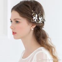 Cheap Bridal Hair Accessories Petite Enamel Leaf Bobby ...