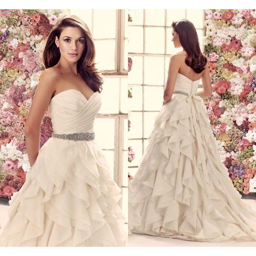 Medium Crop Of Organza Bridal Gown