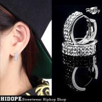 2018 Hip Hop Earrings Fashion Trend Men'S Diamond Earrings ...