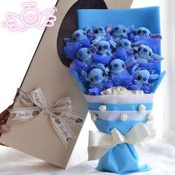 2018 D223 Eternal Angel Holding Stitch Cartoon Bouquet Doll Gift