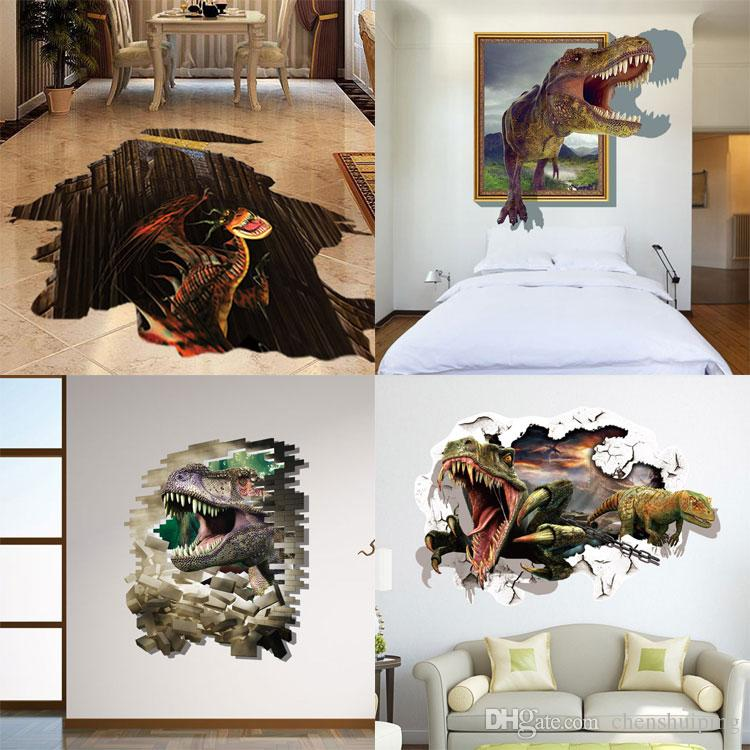 The Yellow Wallpaper Nursery Quotes Mixed New 3d Dinosaur Wall Stickers Decorative Wall Decal