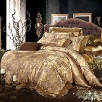 Cream Gold Colored Luxury Jacquard Silk Cotton Lace ...