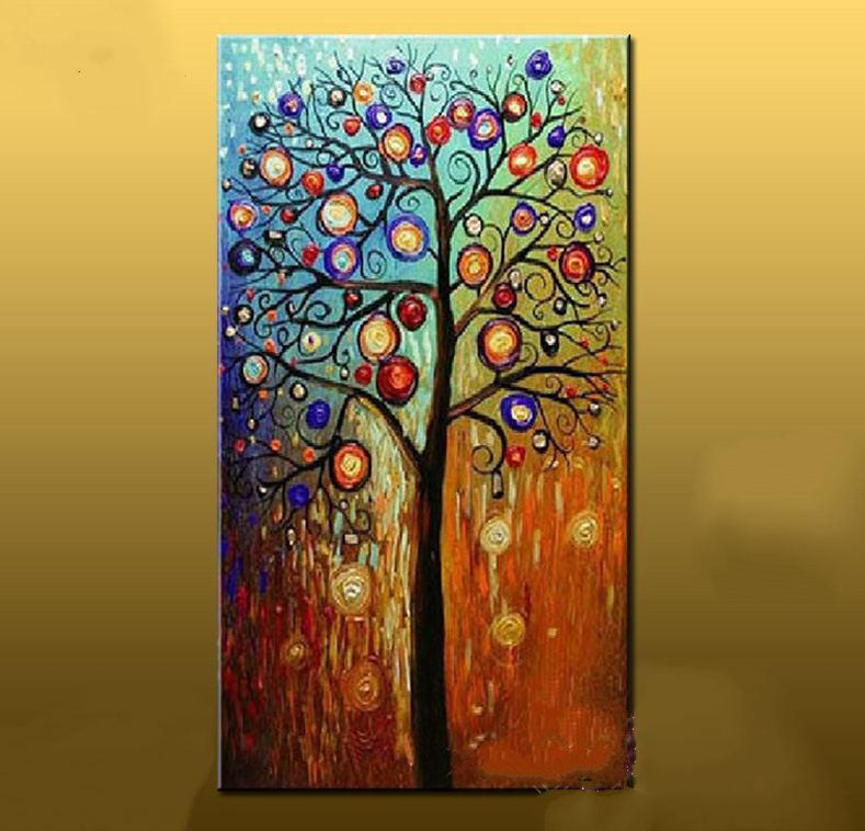 2017 Hand Painted Abstract Oil Painting Large Canvas Art Cheap - living room canvas art