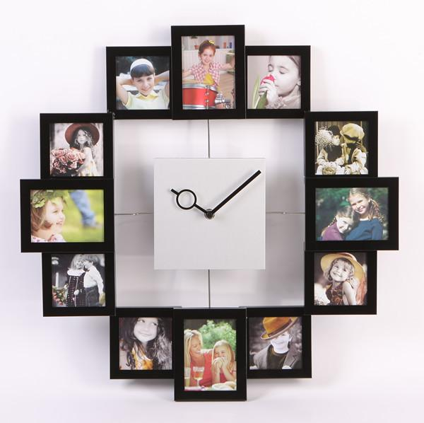 2014 Metal Personalized Photo Frame Living Room Brief Silent Watch - living room clock