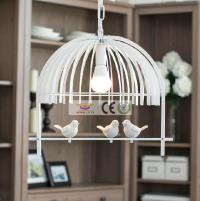 Iron Retro Living Room Lights Bedroom Pendant Lamp E27 LED ...
