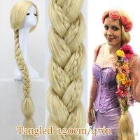 Tangled Princess Rapunzel Long Hair Wig 120cm Long Blonde ...