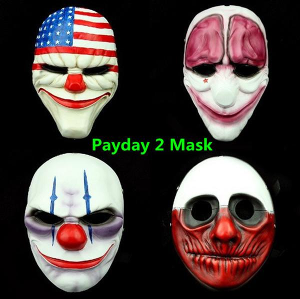 Payday 2 Mask The Heist Dallas/Wolf/Chains/Hoxton Cosplay Halloween
