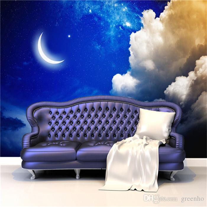 3d Wallpaper Hd For Living Room In India 3d Large Size Charms Night Sky Art Mural Decal Wall
