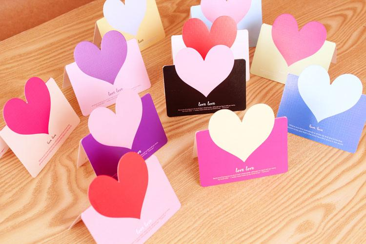 PrettyBaby Love Valentine Cards Heart Valentine Day Card DIY Mini