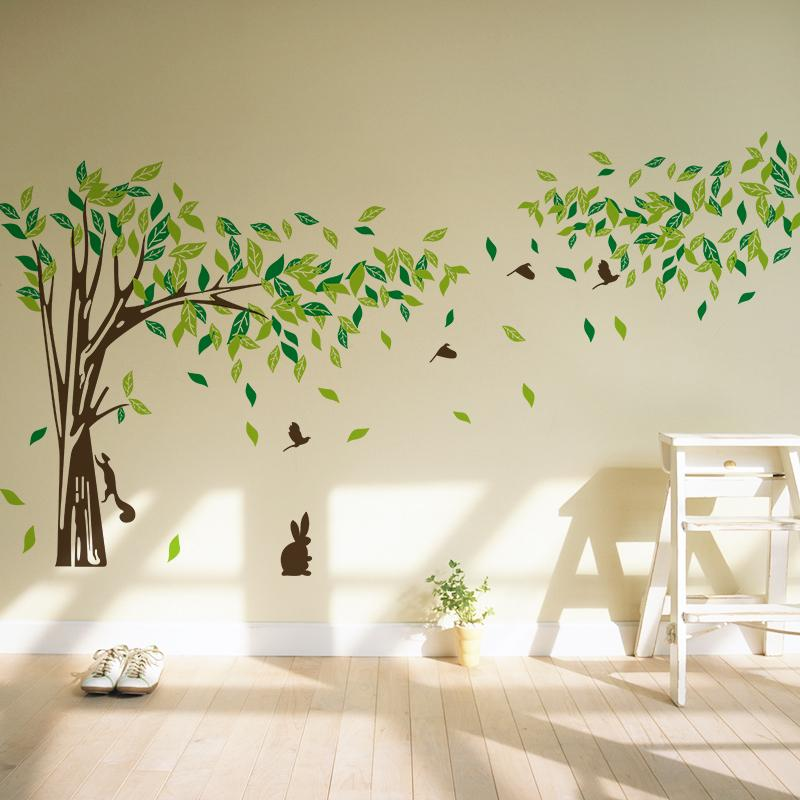 Big Size Trees Living Room Tv Wall Stickers Tree Wall Stickers - large wall decals for living room