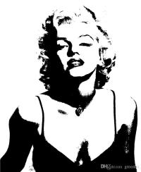 Sexy Marilyn Monroe Wallpaper Black And White Wall Mural ...