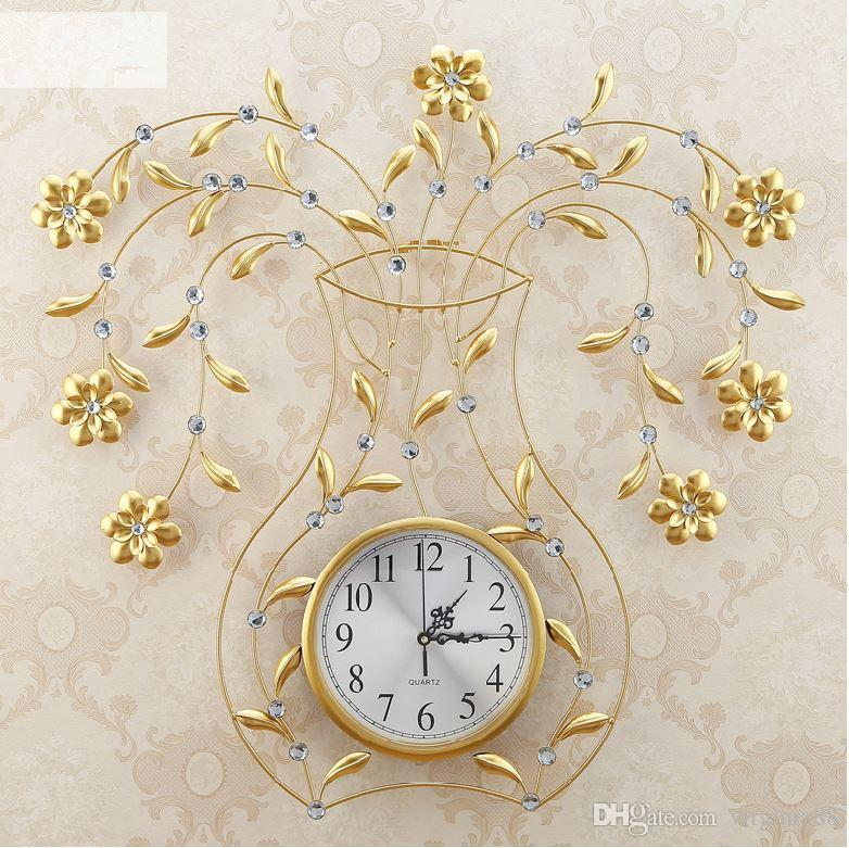 Luxury Modern Living Room Gold Wall Clocks Fashion Personalized - living room clock