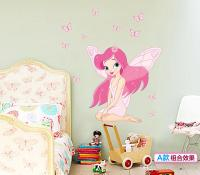 Fairy Princess Butterfly Fairy Wall Stickers For Kids ...