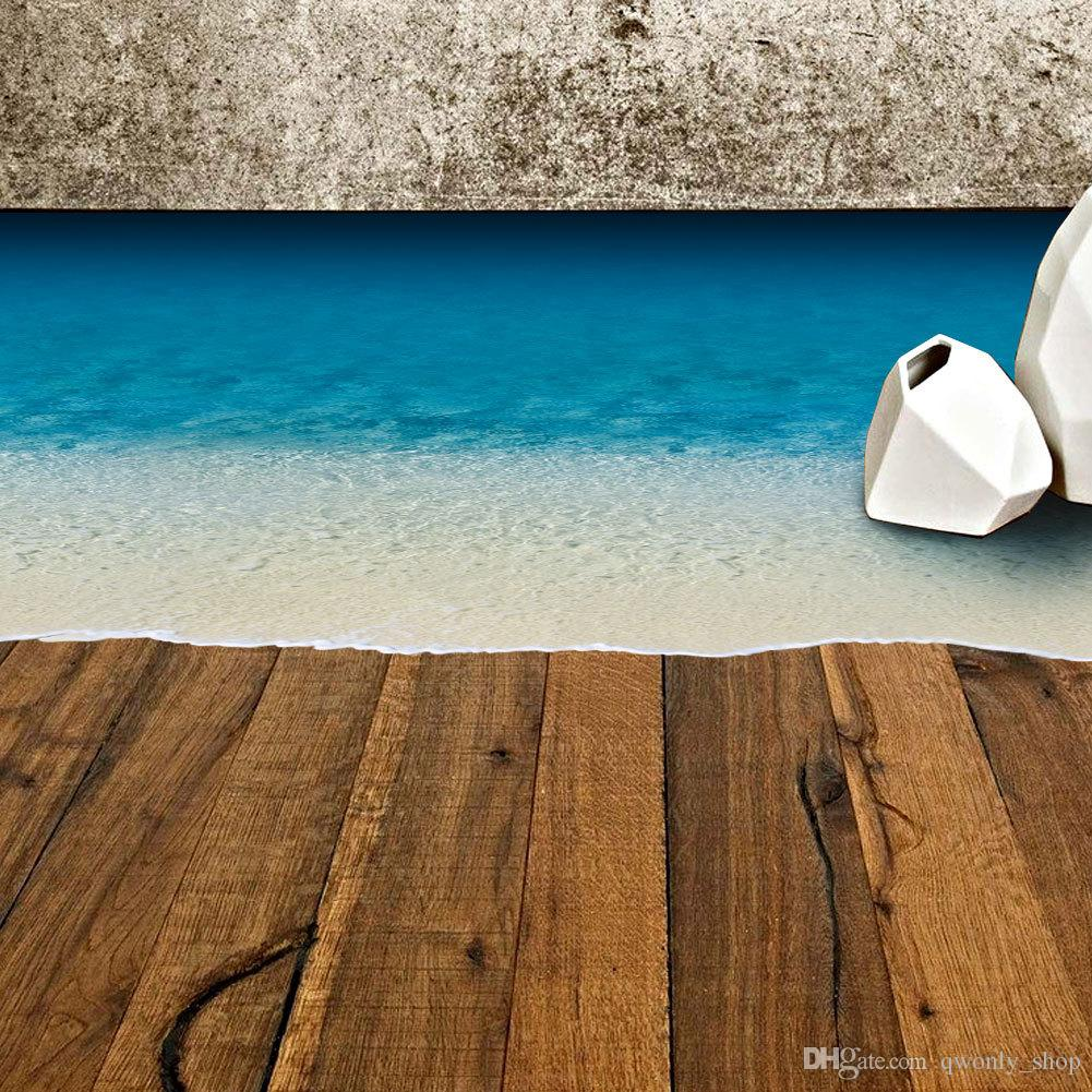 Baby Girl Bedroom Wallpaper Beach Sand Wall Stickers For Floor Removable Sea Beach