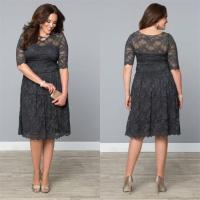 Lace Plus Size Formal Dresses Dark Gray Mother'S Tea ...