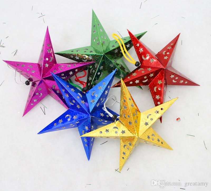 2015 New Hot 45cm Christmas Star Decorations Xmas Creative Cute - christmas star decorations