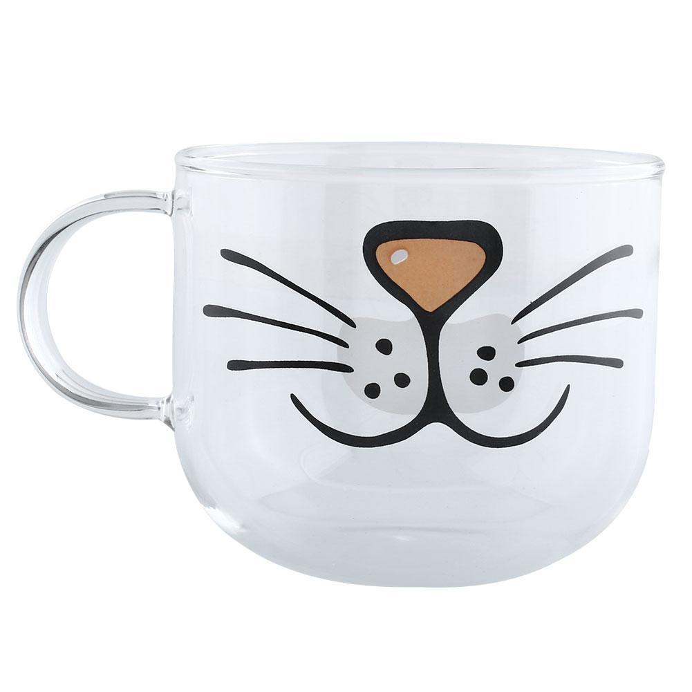 Soothing Cat Glass Coffee Mug Home Decoration Transparent Clear Water Mugs Cartoonmug Coffee Mugs Porcelain Coffee Mugs From Cat Glass Coffee Mug Home Decoration Transparent Clear Water Mugs furniture Cartoon Coffee Mug