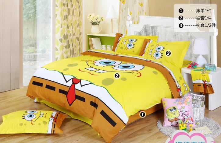 2018 Spongebob Queen Bedding Kids Queen Size Bedding
