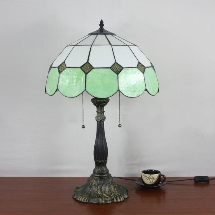 Table Lamp Tiffany Mediterranean Minimalist Green Pink Blue Yellow - cheap table lamps for living room