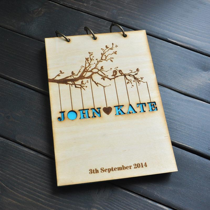Personalized Wedding Guest Book, Rustic Wedding Guestbook Album - guest books wedding