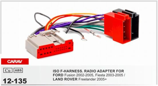 CARAV 12 135 ISO F HARNESSRADIO ADAPTER FOR FORD Fusion, Fiesta