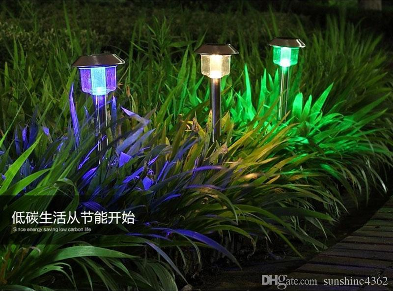 2018 Stainless Steel Led Solar Lawn Light Night Lamp