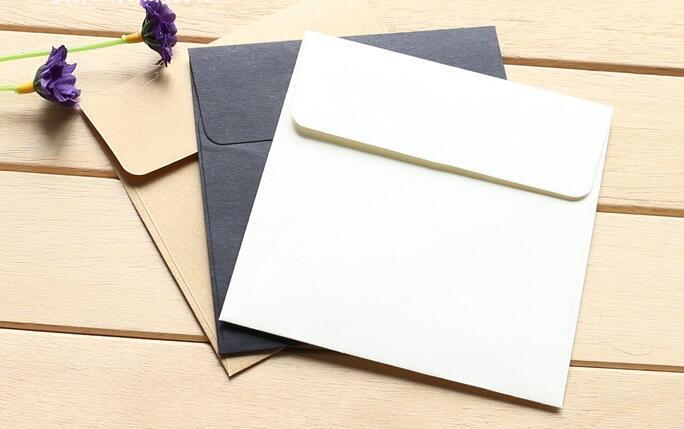 10*10cm Kraft Mini Blank Envelopes for Membership Card / Small