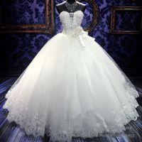 Gorgeous Bling Corset Wedding Dresses Rhinestones Crystal ...