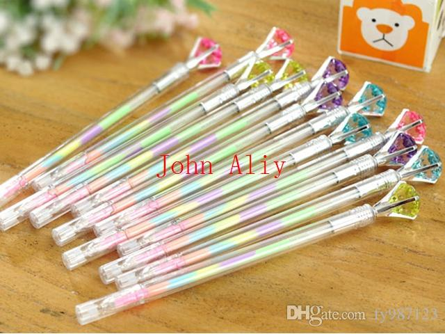 Cute Colored Crystal Diamond Gel Pens 038mm Multi Color Rollerball - ball office supplies
