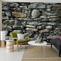 3d Stereo Stone Brick Pattern Large Mural Wallpaper Living ...
