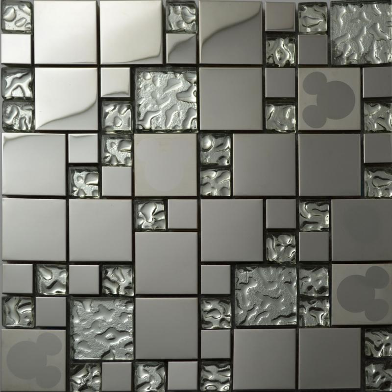 Best silver glass kitchen backsplash tile stainless steel