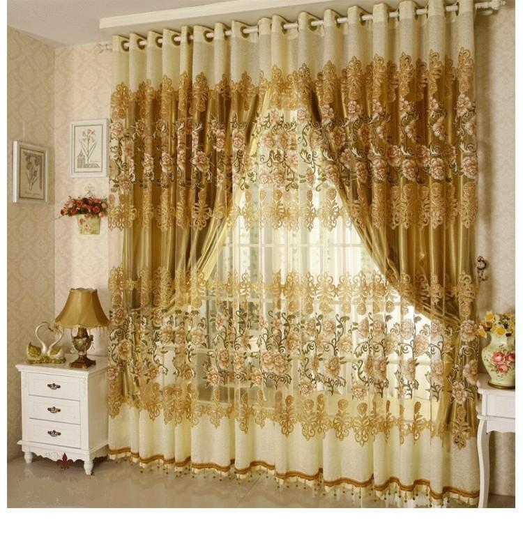 Luxury Voile Curtains + Blackout Curtains For Living Room - luxury curtains for living room