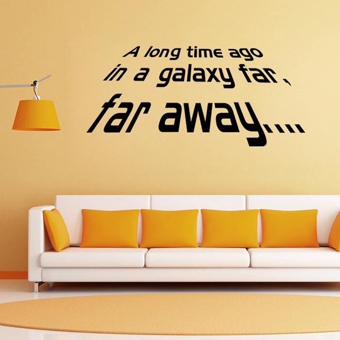 2016 New Star Wars Wall Decals Far Away Quotes Vinyl Removable - large wall decals for living room