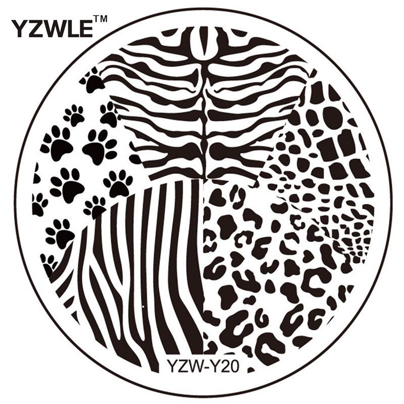 Wholesale Yzwle 1 Sheet Fashion Round Flower Design Nail Art Image