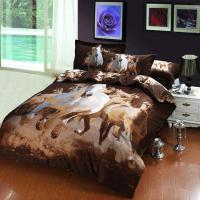Oil Painting Galloping Horse Egyptian Cotton Bedding ...