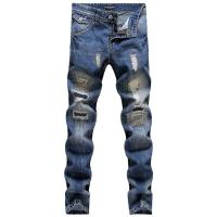 2017 Men Famous Brand Designer Jeans With Patches 100% ...