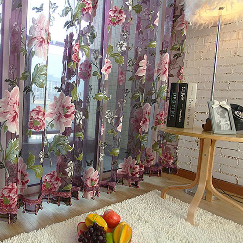 Home Textile Flower Embroidered Chinese Luxury 3d Window Curtains - luxury curtains for living room