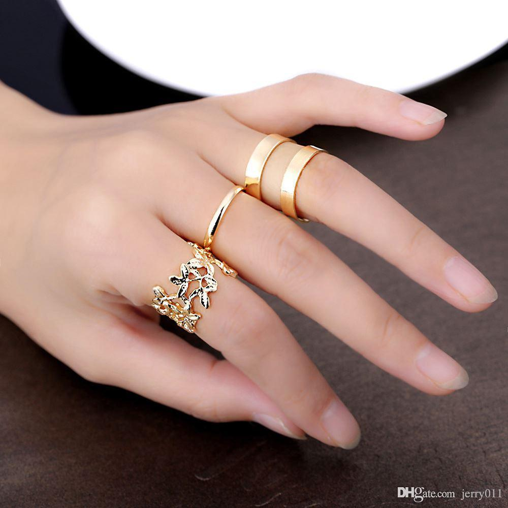 Lovely Hollow Leavesand Or Types Ring Engagement Rings Wedding Rings From Fashion Plated Jewelry Women Knuckle Rings Fashion Plated Jewelry Women Knuckle Rings Hollow wedding rings Types Of Rings