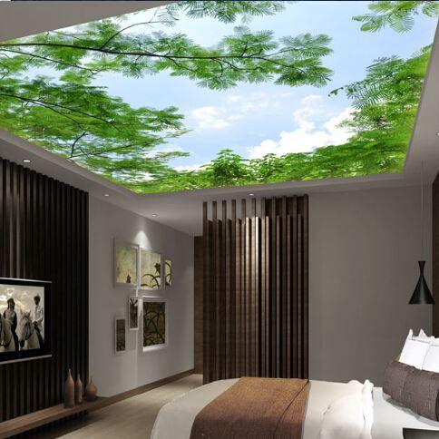 3d Wallpaper Suspended Ceiling Living Room European Style - 3d wallpaper for living room