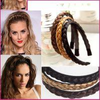 2017 Fashion Women Twisted Wig Headband Girls' Blondy Wig ...