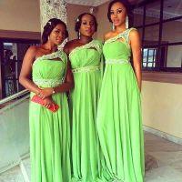 New Lime Green Chiffon Bridesmaid Dresses 2016 One ...