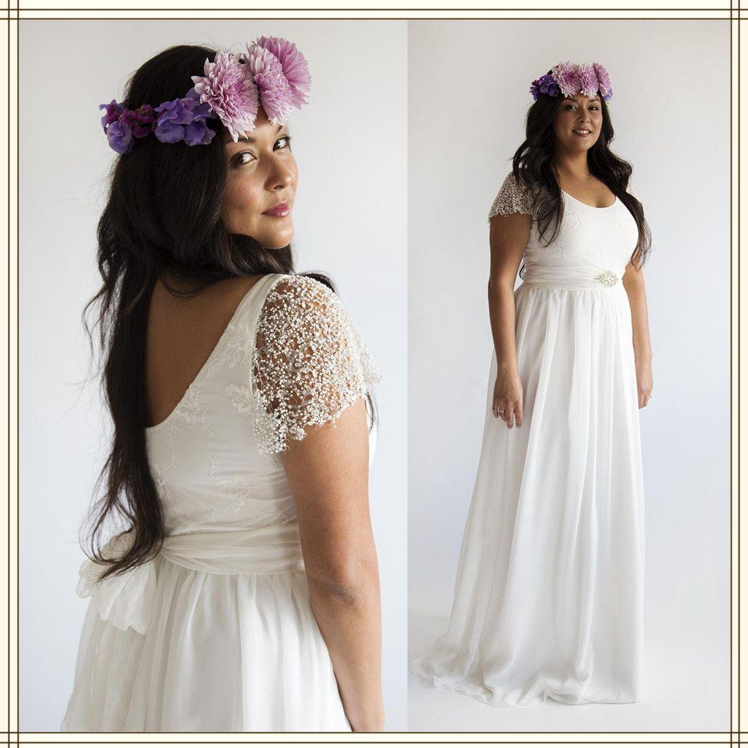 Cream Lace Dress Plus Size