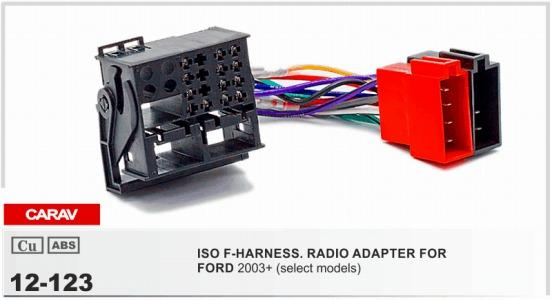 CARAV12 123 ISO F HARNESSRADIO ADAPTER FOR FORD Focus,Fiesta,Fusion