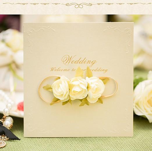 2015 dedicate handmade wedding formal invitation card with bow - 28