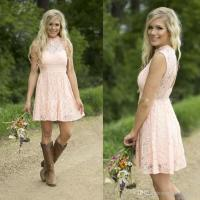 2016 Pink Lace Short Bridesmaid Dresses Junior Bridesmaid ...