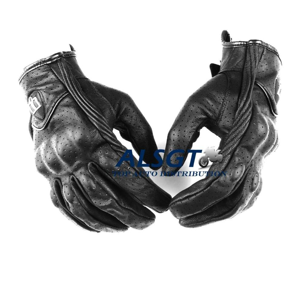 Free shipping retro perforated leather motorcycle gloves cycling motorbike protective gears motocross glove goat leather gloves cheap retro motorcycle